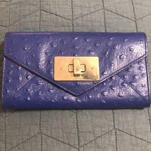 Kate Spade Blue Ostrich Wallet